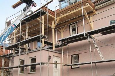 Neuaufbau Balkonanlage